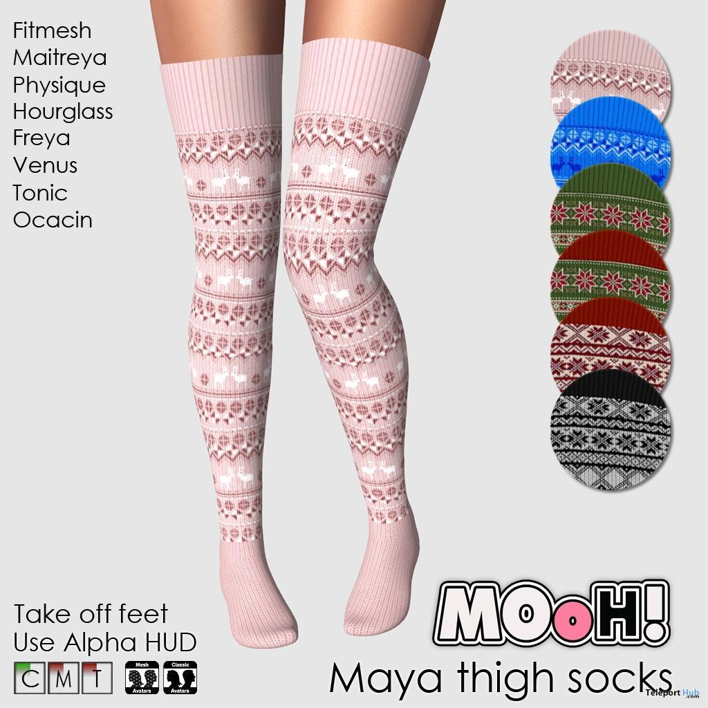 Maya Thigh Socks Fatpack December 2018 Group Gift by MOoH! - Teleport Hub - teleporthub.com - Teleport Hub - teleporthub.com