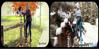 Any Weather Fun Adult & Child Pose December 2018 Group Gift by Something New - Teleport Hub - teleporthub.com