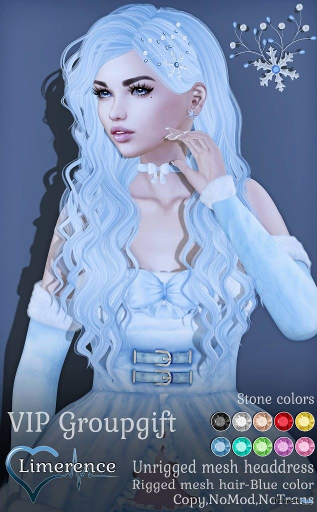 Christmas Hair December 2018 Group Gift by Limerence - Teleport Hub - teleporthub.com