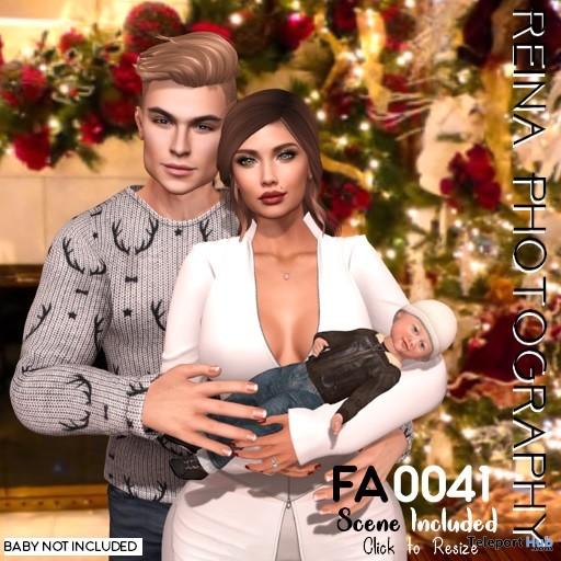 Family Pose FA0041 December 2018 Gift by Reina Photography - Teleport Hub - teleporthub.com