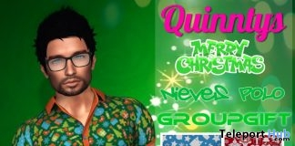 Nieves Polo Shirt December 2018 Group Gift by Quinnty's - Teleport Hub - teleporthub.com