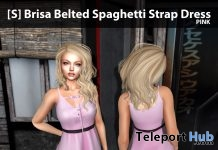 New Release: [S] Brisa Belted Spaghetti Strap Dress by [satus Inc] - Teleport Hub - teleporthub.com