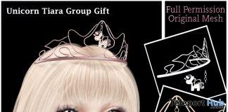 Unicorn Tiara Full Permission December 2018 Group Gift by Sherbert - Teleport Hub - teleporthub.com