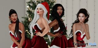 Sexy XMas Group Bento Pose 50L Promo by LUNE - Teleport Hub - teleporthub.com