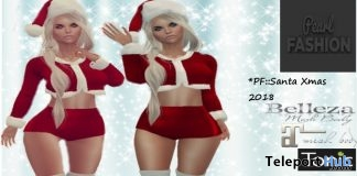 Santa Xmas Outfit December 2018 Group Gift by Pearl Fashion - Teleport Hub - teleporthub.com