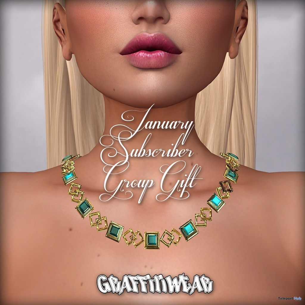 Aquamarine Necklace January 2019 Subscriber Gift by Graffitiwear - Teleport Hub - teleporthub.com