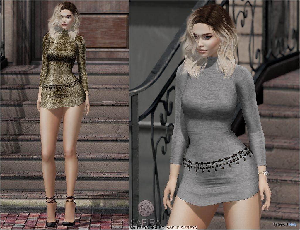 Renee Dress Exclusive Texture January 2019 Group Gift by Safira- Teleport Hub - teleporthub.com