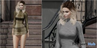 Renee Dress Exclusive Texture January 2019 Group Gift by Safira - Teleport Hub - teleporthub.com
