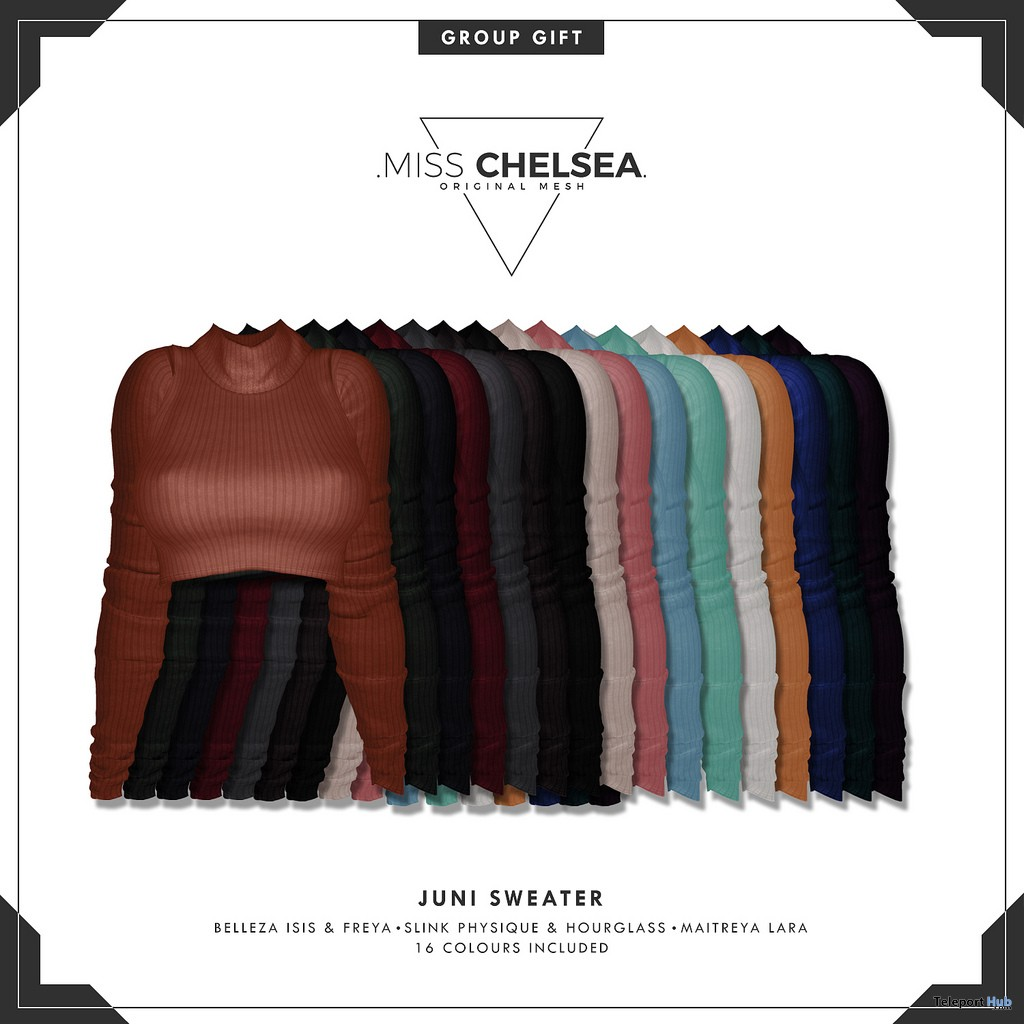 Juni Sweater Fatpack January 2019 Group Gift by Miss Chelsea- Teleport Hub - teleporthub.com