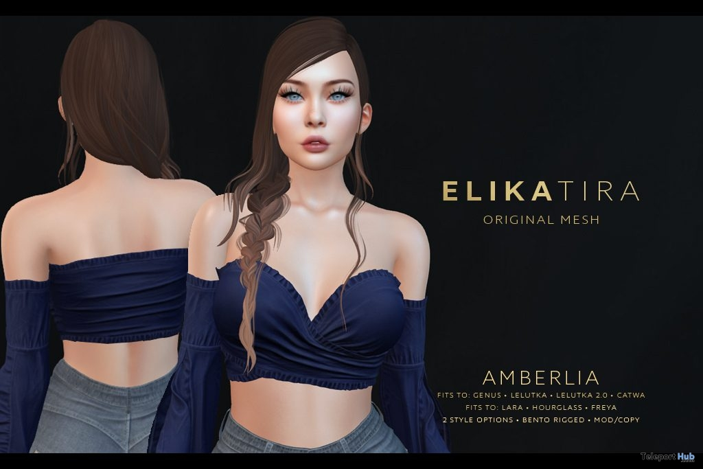 Amberlia Hair Fatpack January 2019 White River Farms Group Gift by ELIKATIRA - Teleport Hub - teleporthub.com