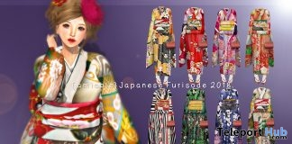 Furisode Kimono 50% Off Promo by {amiable} @ Japonica December 2018  - Teleport Hub - teleporthub.com