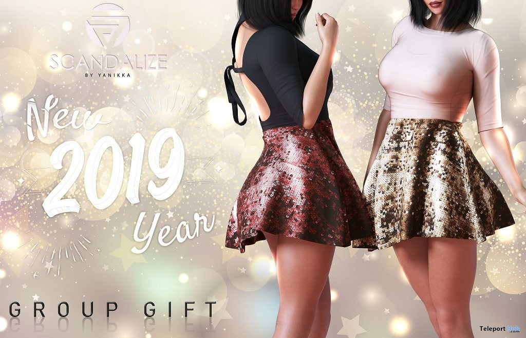 New Year Dress January 2019 Group Gift by SCANDALIZE - Teleport Hub - teleporthub.com