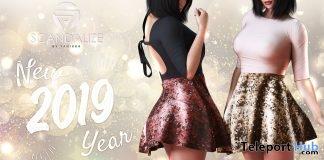 New Year Dress January 2019 Group Gift by SCANDALIZE - Teleport Hub - teleporthub.com