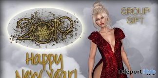New Year Dress January 2019 Group Gift by Graffitiwear - Teleport Hub - teleporthub.com