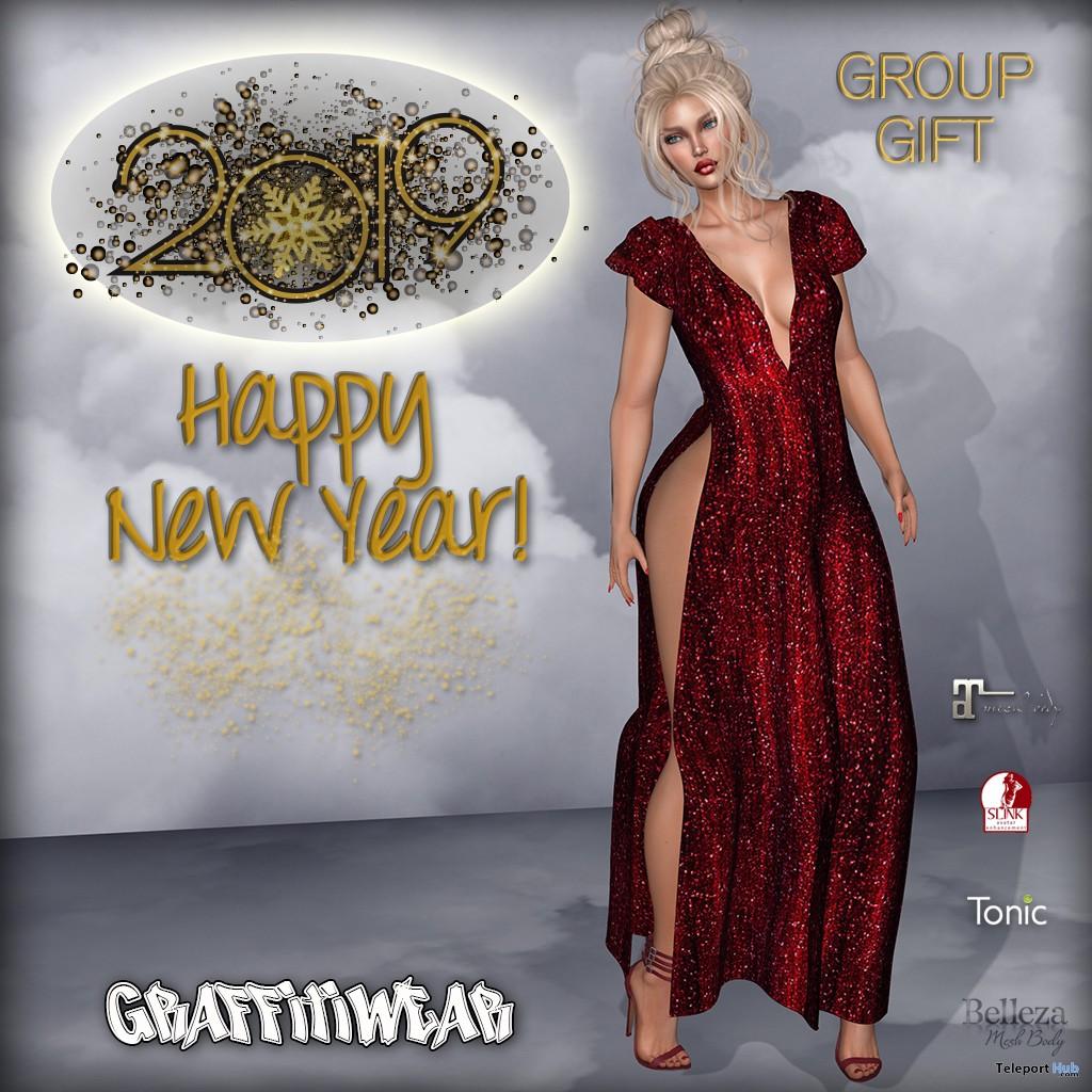 New Year Dress January 2019 Group Gift by Graffitiwear- Teleport Hub - teleporthub.com