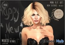 Maria Hair Blonds January 2019 Group Gift by MINA Hair- Teleport Hub - teleporthub.com