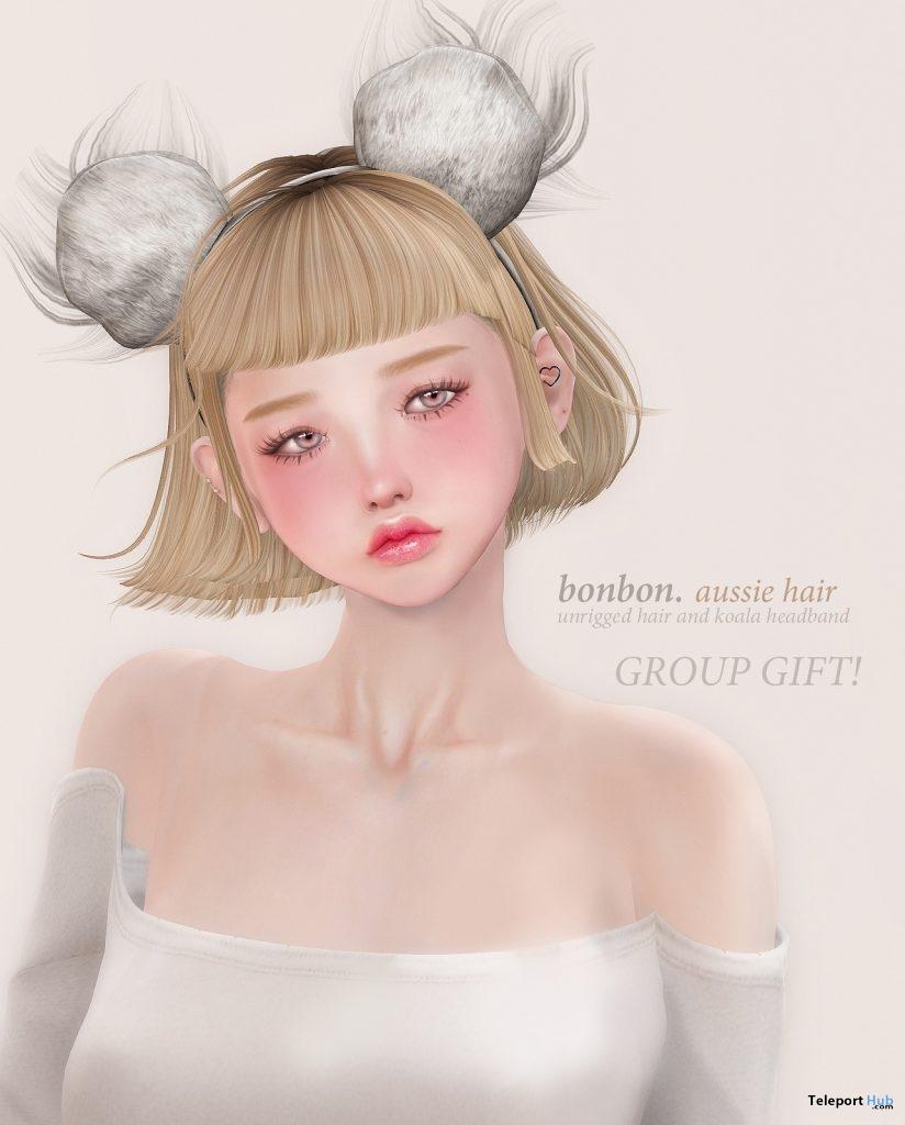 Aussie Hair January 2019 Group Gift by Bonbon- Teleport Hub - teleporthub.com