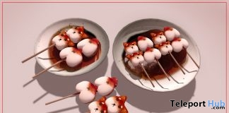 Shiba Mochi Set January 2019 Group Gift by RINGOHANA - Teleport Hub - teleporthub.com