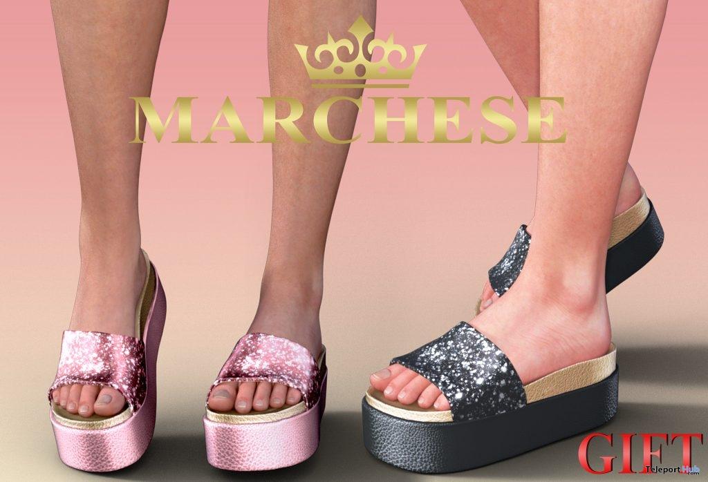 Layla Platform Shoes January 2019 Group Gift by Marchese- Teleport Hub - teleporthub.com