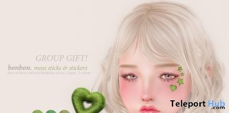 Moss Sticks & Stickers January 2019 Group Gift by Bonbon - Teleport Hub - teleporthub.com