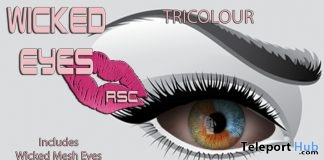 Wicked Eyes Tricolor January 2019 Gift by Rachel Swallows Creations - Teleport Hub - teleporthub.com