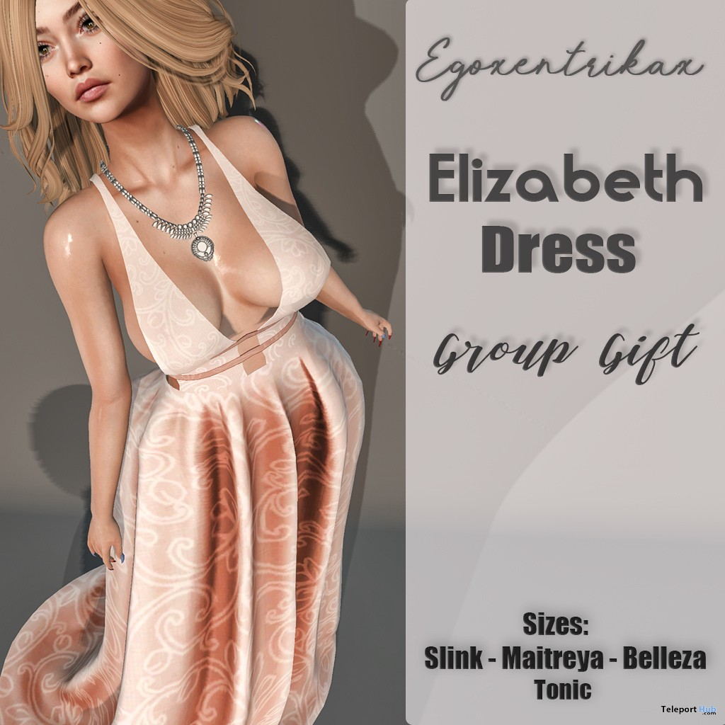 Elizabeth Dress January 2019 Group Gift by Egoxentrikax- Teleport Hub - teleporthub.com