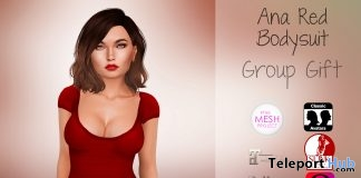 Ana Red Bodysuit January 2019 Group Gift by Al-Hanna - Teleport Hub - teleporthub.com