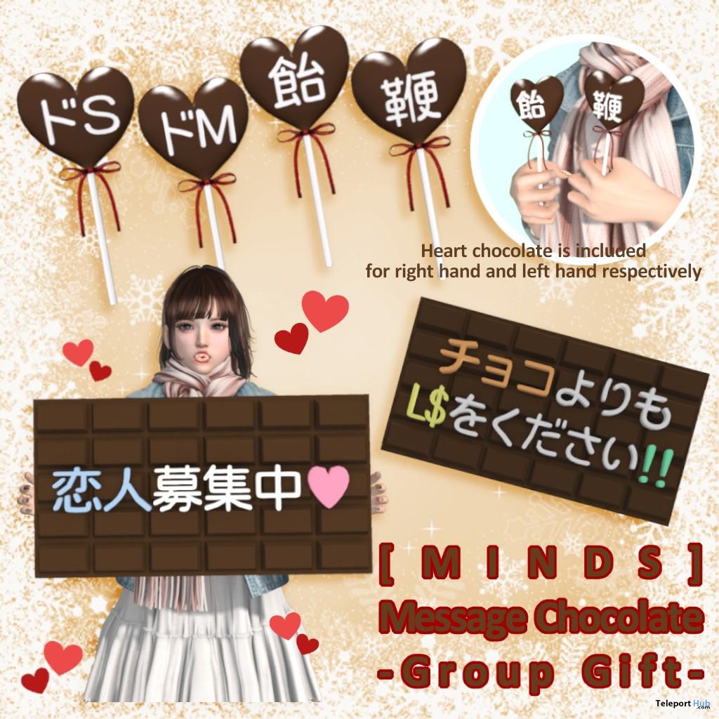 Chocolate Message January 2019 Group Gift by [MINDS]- Teleport Hub - teleporthub.com
