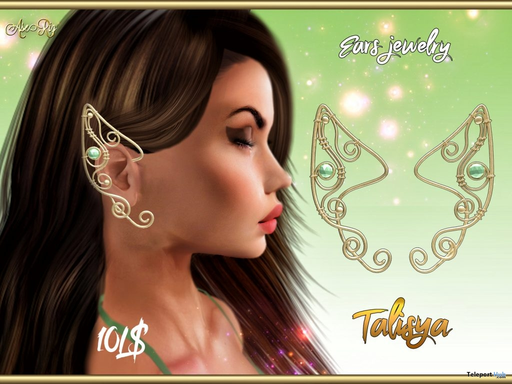 Talisya Ears Jewelry 10L Promo by AseRiz- Teleport Hub - teleporthub.com
