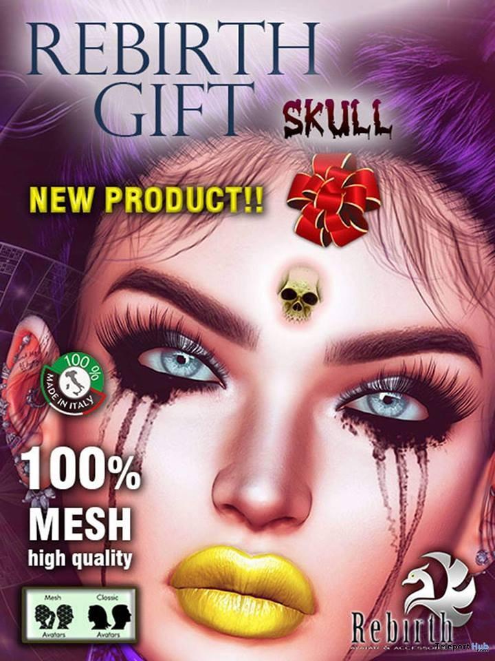 Skull Bindi January 2019 Group Gift by REBIRTH- Teleport Hub - teleporthub.com