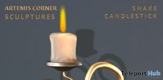 Snake Candlestick January 2019 Group Gift by Artemis Corner Sculptures- Teleport Hub - teleporthub.com