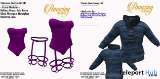 Winter Male Sweater & Harness Bodysuit January 2019 Group Gift by AmAzIng CrEaTiOnS- Teleport Hub - teleporthub.com