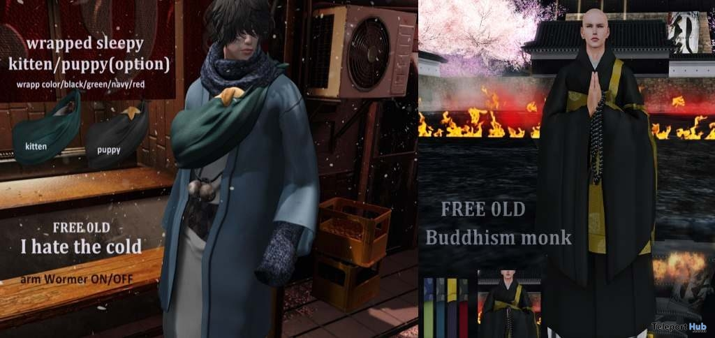 Buddhism Monk & I Hate Cold Male Outfit Gifts @ Rebellion 2019 Sale by Breath x HILU- Teleport Hub - teleporthub.com