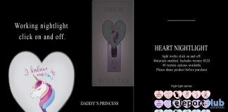 Nightlight Heart February 2019 Group Gift by Star Sugar- Teleport Hub - teleporthub.com
