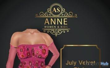 Velvet Pink Dress 2L Promo by Anne Store- Teleport Hub - teleporthub.com