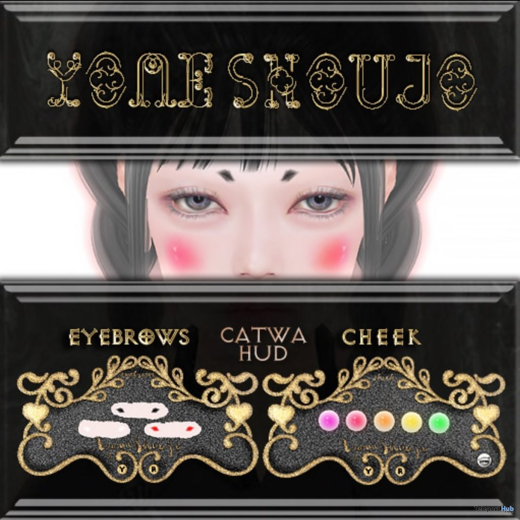 "Make Set 1 Eyebrows & Cheek January 2019 Gift by YOME SHOUJO @ FREEBIES ""F"" Store- Teleport Hub - teleporthub.com"