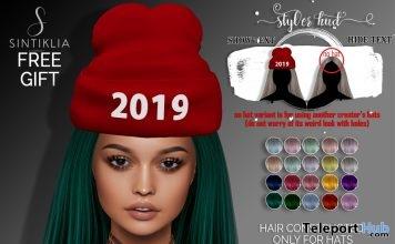 Sheba Sliked Back With Hat January 2019 Gift by Sintiklia- Teleport Hub - teleporthub.com