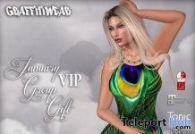 Peacock Feather Animated Dress January 2019 Group Gift by Graffitiwear - Teleport Hub - teleporthub.com