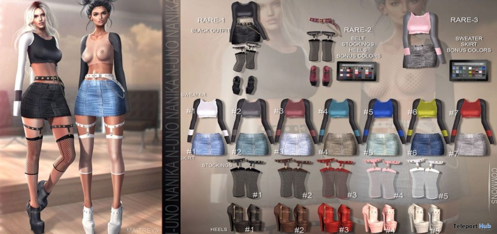 New Release: Isabella Outfit & Accessories Gacha by Nanika x N-Uno @ Shiny Shabby January 2019- Teleport Hub - teleporthub.com