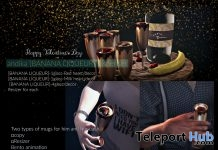 Banana Liqueur Glasses & Dispenser February 2019 Group Gift by Andika - Teleport Hub - teleporthub.com