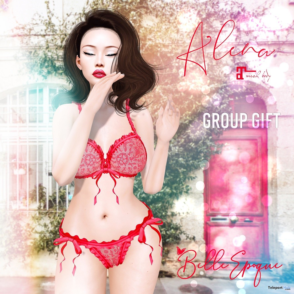Alena Lingerie February 2019 Group Gift by Belle Epoque - Teleport Hub - teleporthub.com