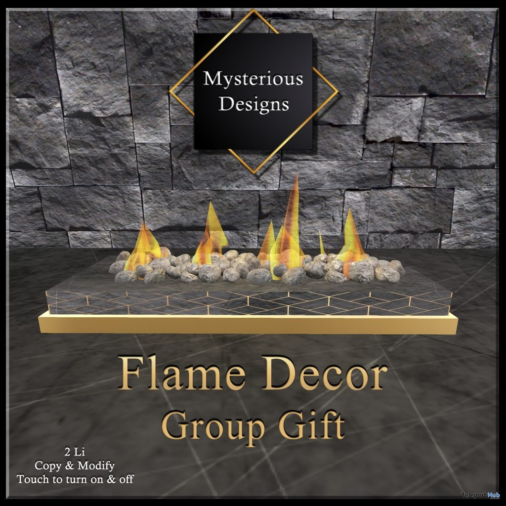 Flame Decor February 2019 Group Gift by Mysterious Designs - Teleport Hub - teleporthub.com