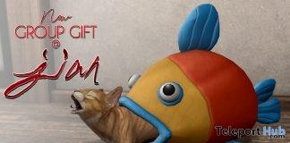 OmNom Kitty Bed February 2019 Group Gift by JIAN- Teleport Hub - teleporthub.com