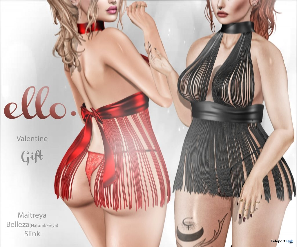 Valentine Babydoll Dress February 2019 Group Gift by ello. - Teleport Hub - teleporthub.com
