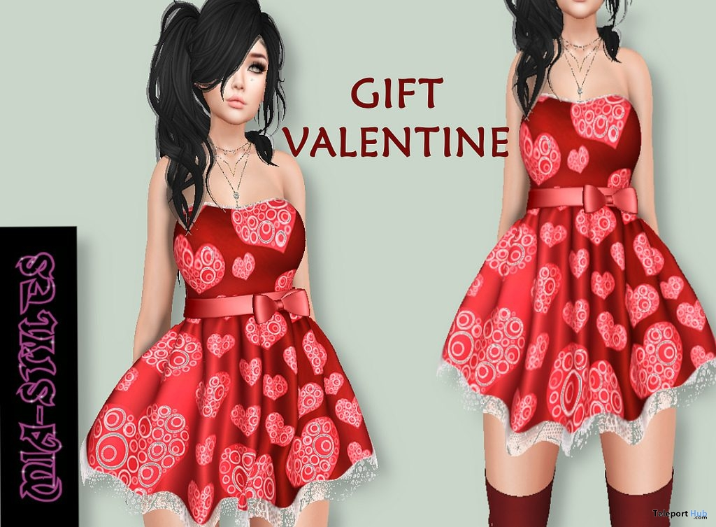Valentine Dress February 2019 Group Gift by Mia Styles - Teleport Hub - teleporthub.com