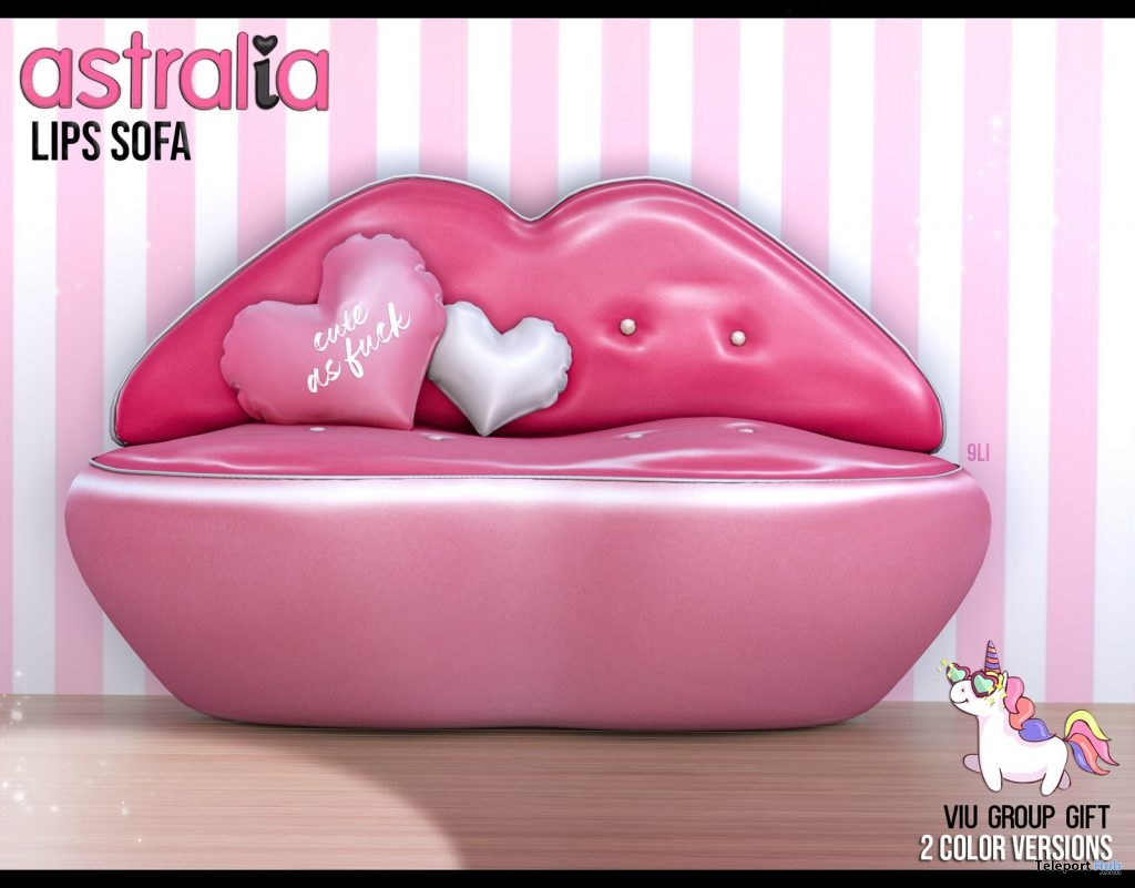 Valentine Lips Sofa February 2019 Group Gift by Astralia