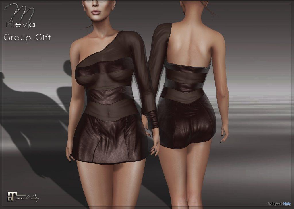 One Shoulder Dress February 2019 Group Gift by Meva- Teleport Hub - teleporthub.com