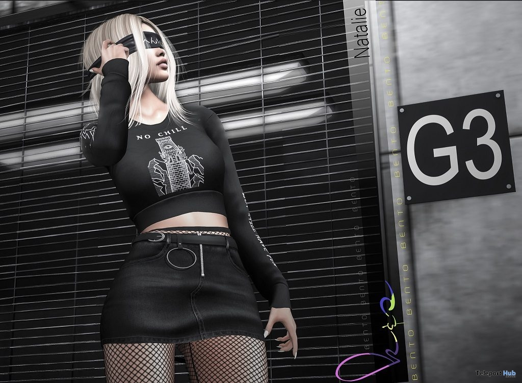 Natalie Bento Pose February 2019 Group Gift by K&S Poses - Teleport Hub - teleporthub.com
