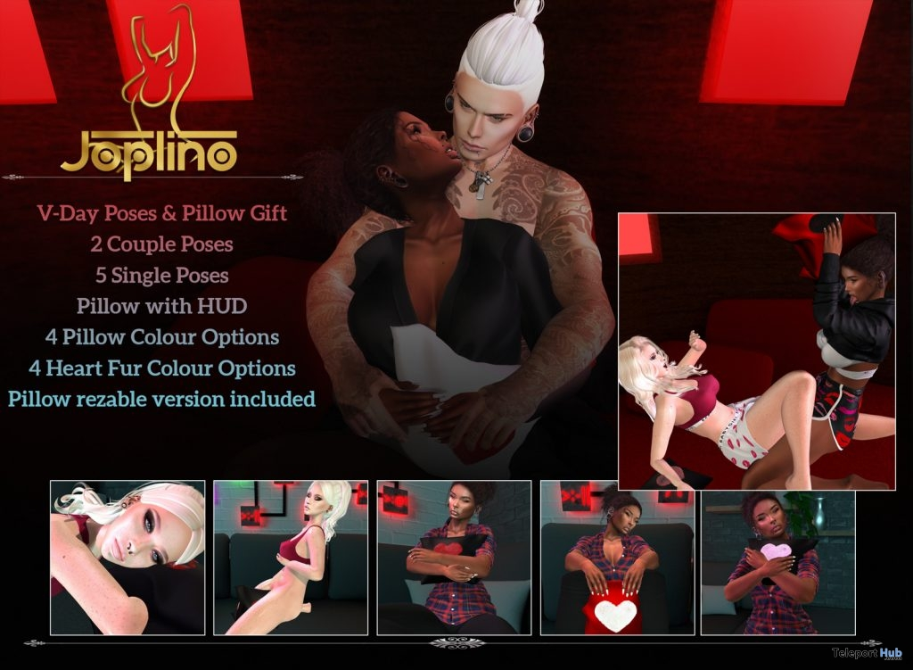 Valentine Day Pillow With Single & Couple Poses February 2019 Gift by Joplino x Curve- Teleport Hub - teleporthub.com