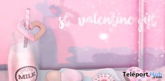 Valentine Cookies & Milk February 2019 Group Gift by Tentacio - Teleport Hub - teleporthub.com